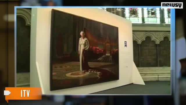 News video: Portrait of Queen Elizabeth II Defaced in Westminster Abbey